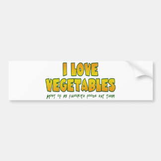 Autocollant De Voiture J'aime des légumes