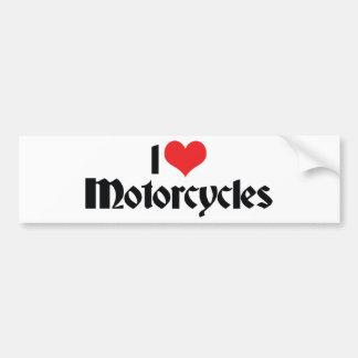 Autocollant De Voiture J'aime des motos de coeur