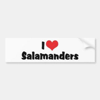 Autocollant De Voiture J'aime des salamandres de coeur