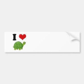 Autocollant De Voiture J'aime des tortues