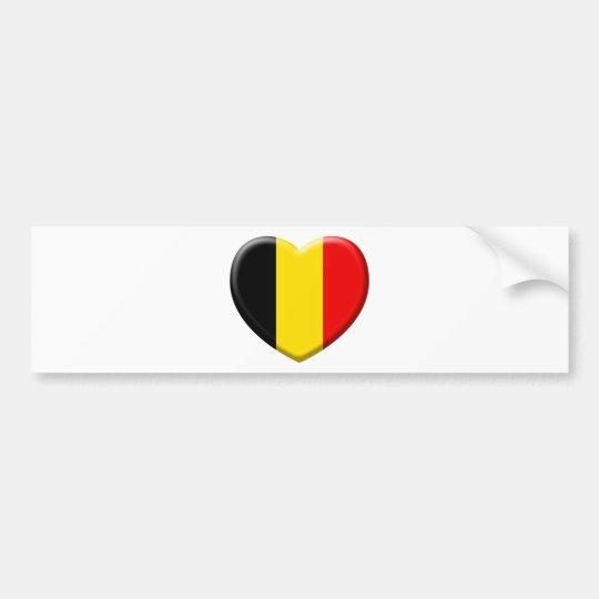 Autocollant De Voiture j'aime la Belgique