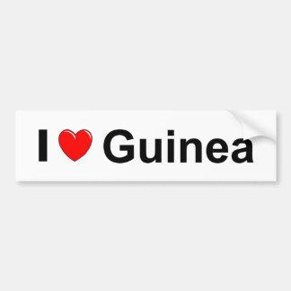 Autocollant De Voiture J'aime la Guinée de coeur