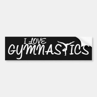 Autocollant De Voiture J'aime la gymnastique