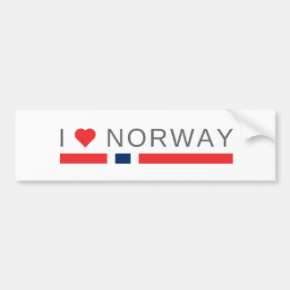 Autocollant De Voiture J'aime la Norvège