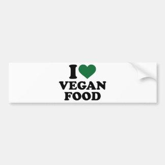 Autocollant De Voiture J'aime la nourriture végétalienne