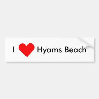 Autocollant De Voiture J'aime la plage de Hyams
