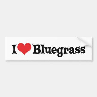 Autocollant De Voiture J'aime l'adhésif pour pare-chocs de Bluegrass