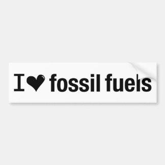 Autocollant De Voiture J'aime l'adhésif pour pare-chocs de combustibles
