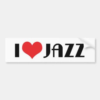 Autocollant De Voiture J'aime l'adhésif pour pare-chocs de jazz