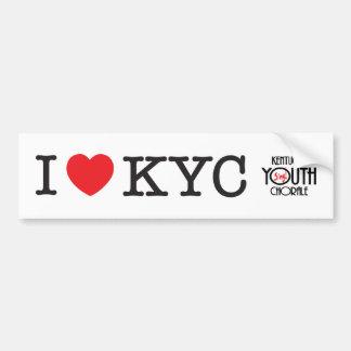 Autocollant De Voiture J'aime l'adhésif pour pare-chocs de KYC