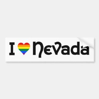 Autocollant De Voiture J'aime l'adhésif pour pare-chocs d'état de LGBT