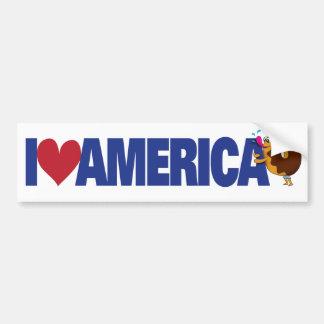 Autocollant De Voiture J'aime l'Amérique