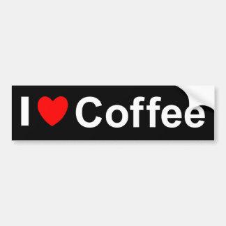 Autocollant De Voiture J'aime le café de coeur