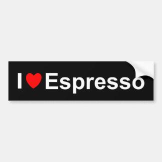 Autocollant De Voiture J'aime le café express de coeur