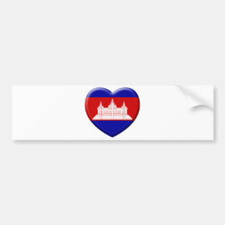 Autocollant De Voiture j'aime le Cambodge