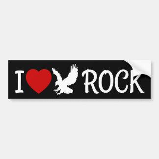 Autocollant De Voiture J'aime le coeur de roche d'Eagle