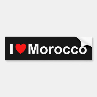 Autocollant De Voiture J'aime le coeur Maroc