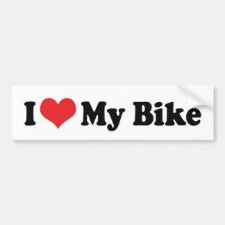 Autocollant De Voiture J'aime le coeur mon vélo - amant de moto de