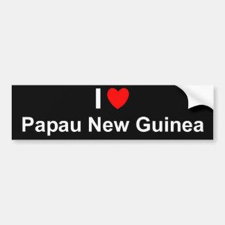 Autocollant De Voiture J'aime le coeur Papau Nouvelle-Guinée