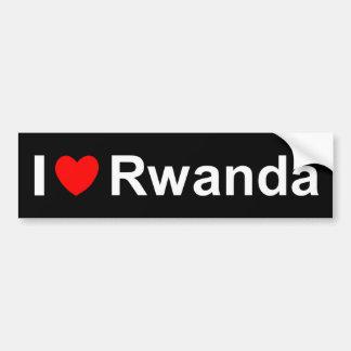 Autocollant De Voiture J'aime le coeur Rwanda