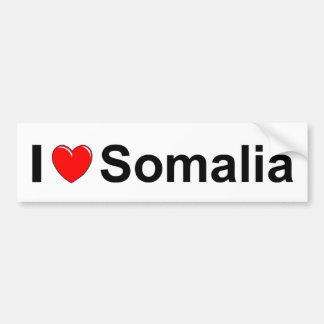 Autocollant De Voiture J'aime le coeur Somalie