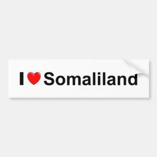 Autocollant De Voiture J'aime le coeur Somaliland