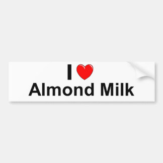 Autocollant De Voiture J'aime le lait d'amande de coeur