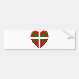 Autocollant De Voiture j'aime le pays Basque