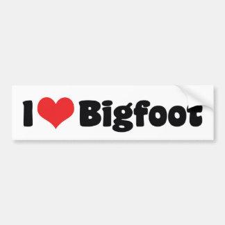 Autocollant De Voiture J'aime le yeti de Bigfoot Sasquatch de coeur