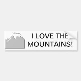 Autocollant De Voiture J'aime les montagnes