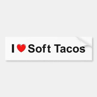 Autocollant De Voiture J'aime les tacos mous de coeur