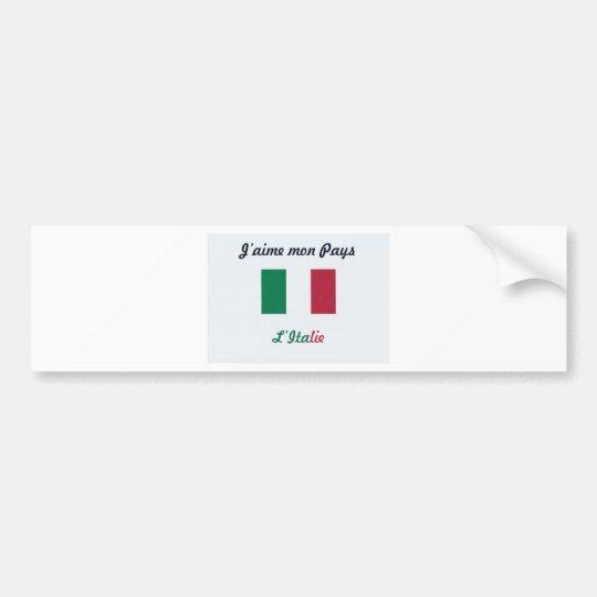 Autocollant De Voiture J'aime l'Italie.jpg