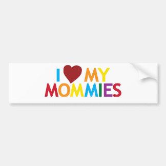 Autocollant De Voiture J'aime mes mères