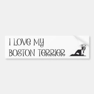 Autocollant De Voiture J'aime mon adhésif pour pare-chocs de Boston