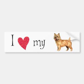 Autocollant De Voiture J'aime mon cairn Terrier