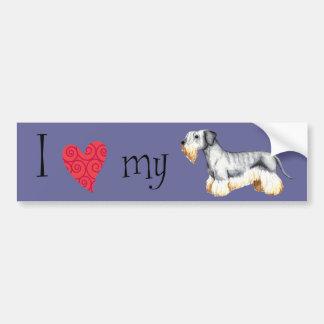 Autocollant De Voiture J'aime mon Cesky Terrier