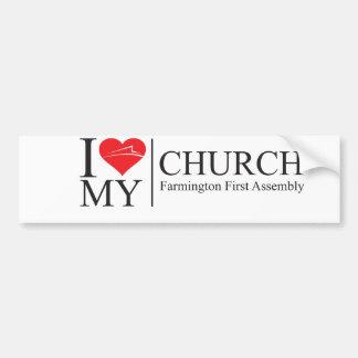 Autocollant De Voiture J'aime mon église