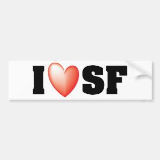 Autocollant De Voiture J'aime San Francisco
