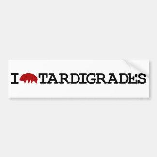 Autocollant De Voiture J'aime Tardigrades