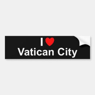Autocollant De Voiture J'aime Ville du Vatican de coeur