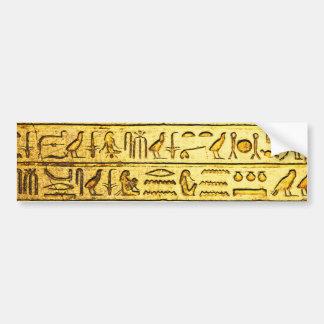 Autocollant De Voiture Jaune égyptien antique d'hiéroglyphes