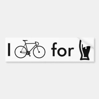 Autocollant De Voiture Je fais du vélo pour l'adhésif pour pare-chocs de