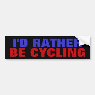 Autocollant De Voiture Je FERAIS UN CYCLE PLUTÔT - des vélos