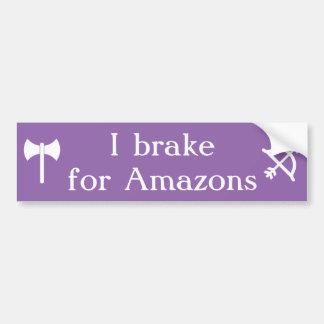 Autocollant De Voiture Je freine pour Amazone - les labrys et l'arc