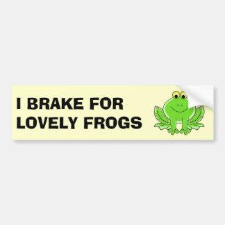 Autocollant De Voiture Je freine pour de belles grenouilles