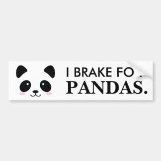 Autocollant De Voiture Je freine pour des pandas