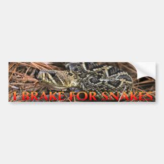 Autocollant De Voiture Je freine pour des serpents