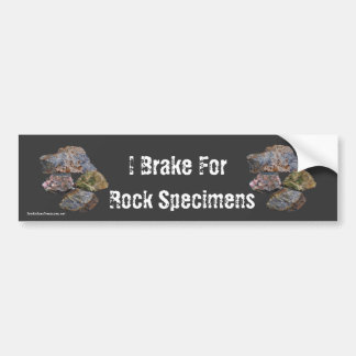 Autocollant De Voiture Je freine pour des spécimens de roche drôles