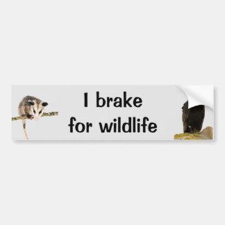 Autocollant De Voiture Je freine pour l'adhésif pour pare-chocs de faune