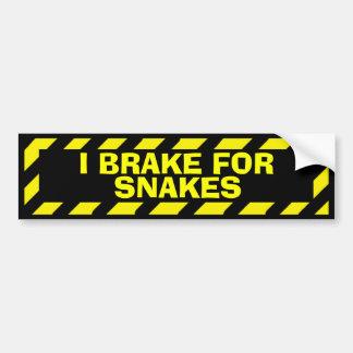 Autocollant De Voiture Je freine pour l'autocollant jaune de précaution